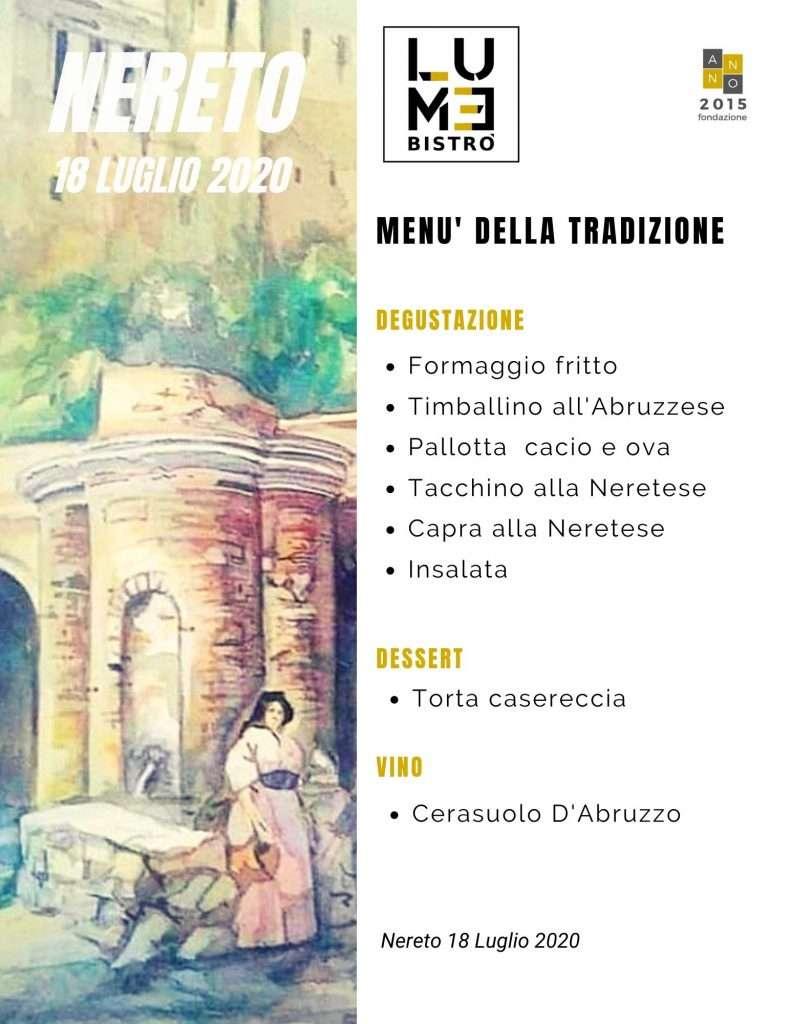 Ospiti di Lume Bistrò 18-07-2020 Evento Katia Ricciarelli Menù Ristorante